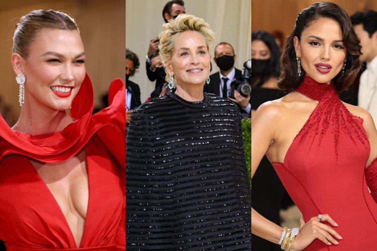 垂墜耳環吸睛效果佳,許多女星選擇這種款式的珠寶出席2021 Met Gala。圖...