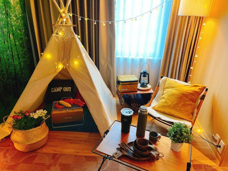 露營風格的房間。圖/台隆提供