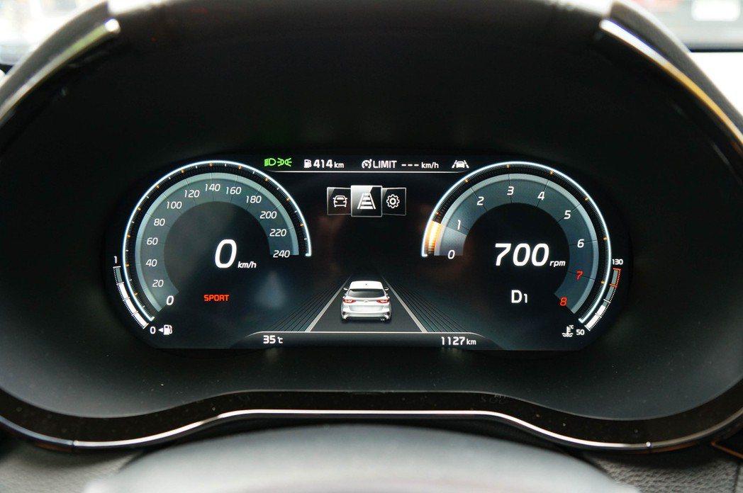 台灣首批100台全數升級要價3.5萬的12.3吋全數位儀表板。 記者趙駿宏/攝影