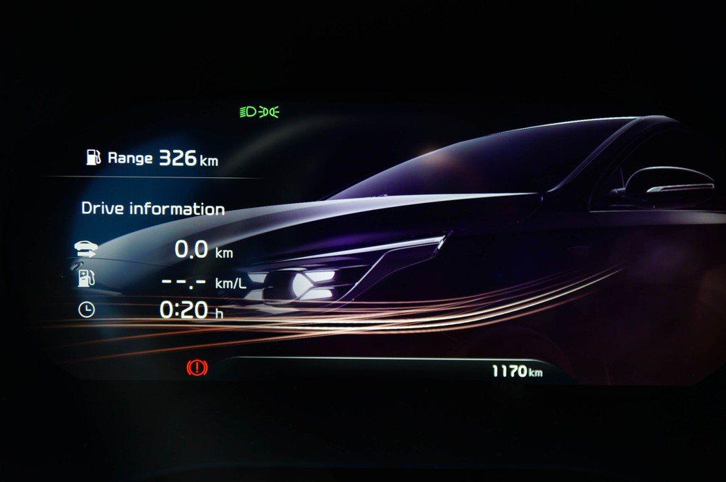 12.3吋全數位儀表板的關機動畫相當華麗。 記者趙駿宏/攝影