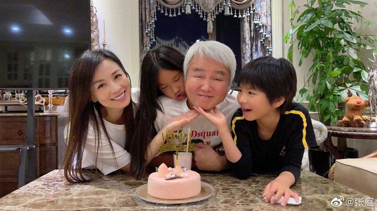 張庭被網友形容和林瑞陽像是兩代人。 圖/擷自張庭微博