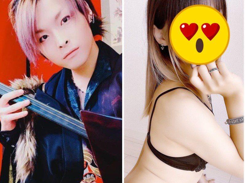 日本男團「櫻men」成員KIJU轉戰AV界,以男扮女裝的造型拍攝成人片,引發討論。圖/取自Instagram、Twitter