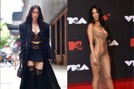 「變形女」不夠辣不出門!全球最性感女人梅根福克斯透視裸紗造型史,大膽解放美胸翹臀