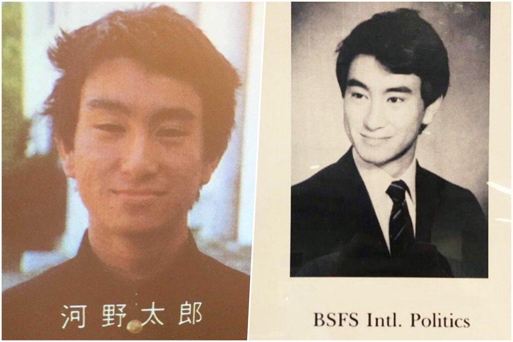 河野在家中的安排下,就讀慶應義塾中等及高等部,1981年進入慶應大學經濟學部,但...