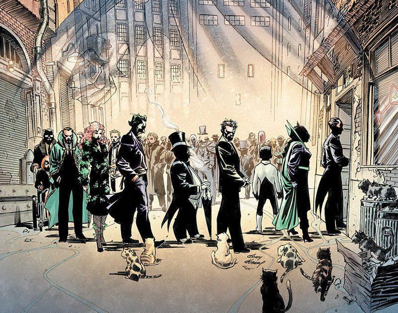 每個人都來參加蝙蝠俠的喪禮。 圖/〈披風聖戰士怎麼了?〉