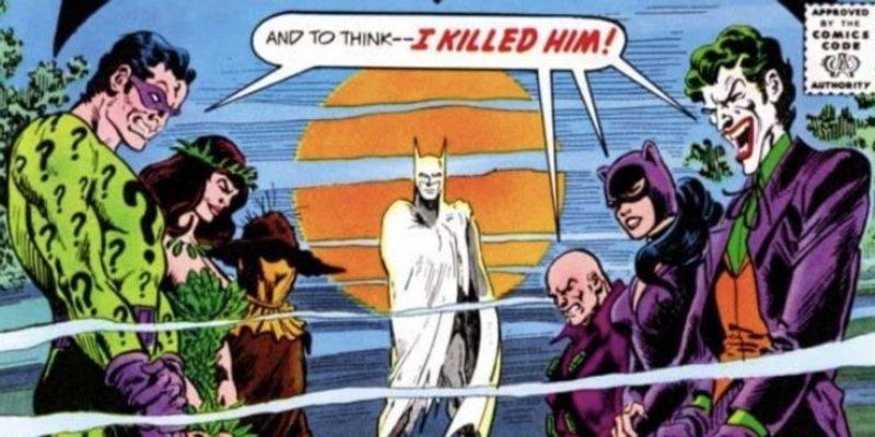 蝙蝠俠大概是DC漫畫裡頭最常「死去又活來」的超級英雄之一了。圖為《蝙蝠俠》 #291 - #294,眾反派皆聲稱自己為蝙蝠俠的死亡負責,主張各自的故事版本。 圖/取自《CBR》
