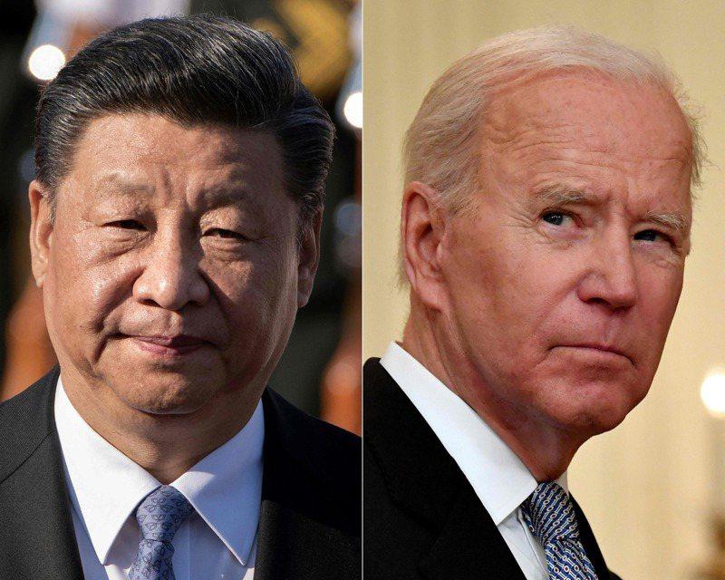 中國國家主席習近平(左)與美國總統拜登(右)。法新社