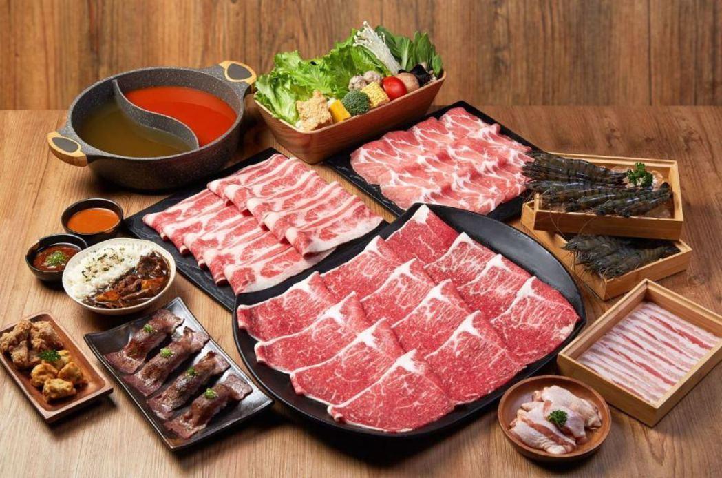 和牛涮吃貨海陸四人生鮮套餐。