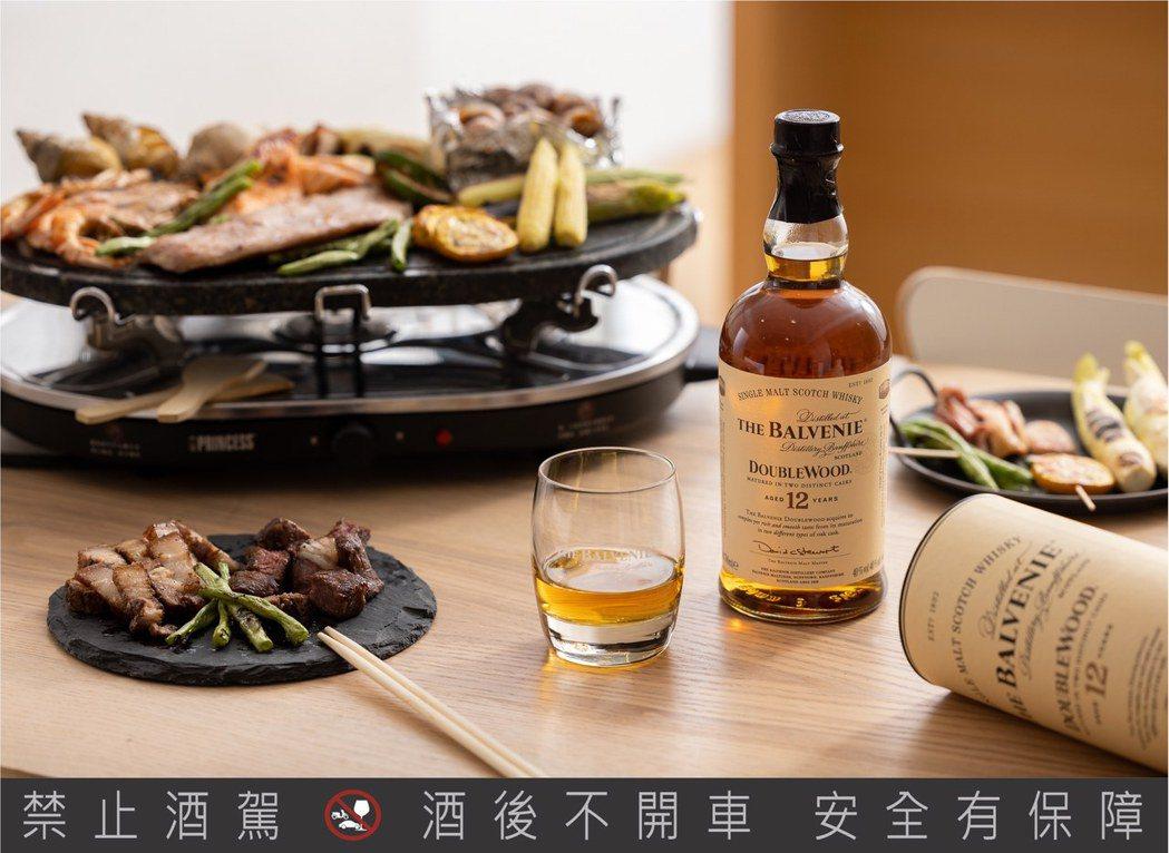 餐桌BBQ百搭「百富12年雙桶單一麥芽威士忌」。格蘭父子/提供