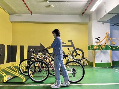 福容花蓮店自行車專屬停車場。 花蓮福容/提供