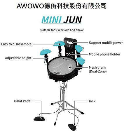 德侑科技-全球最小體積擬真電子爵士鼓。 工研院/提供