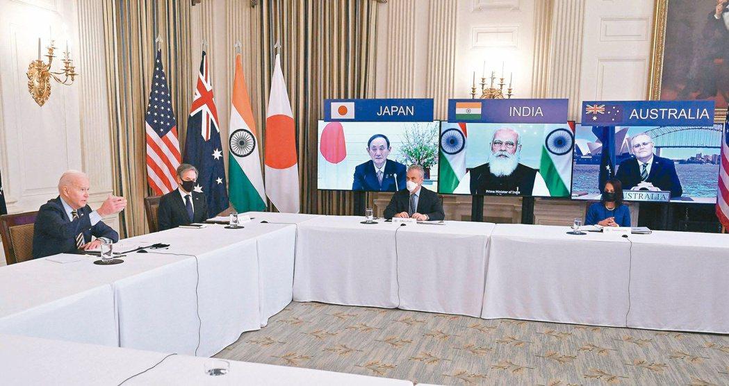 美國總統拜登廿四日將在白宮和日本、印度及澳洲領袖舉行四方安全對話(Quad)實體...