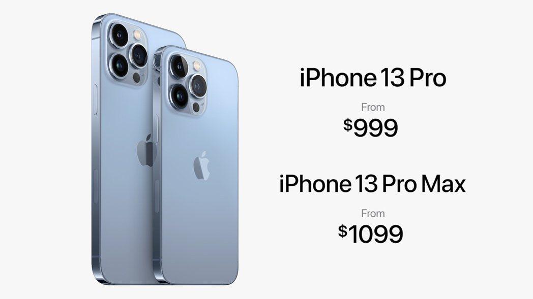 蘋果發表新款iPhone 13 Pro與iPhone 13 Pro Max。 翻...