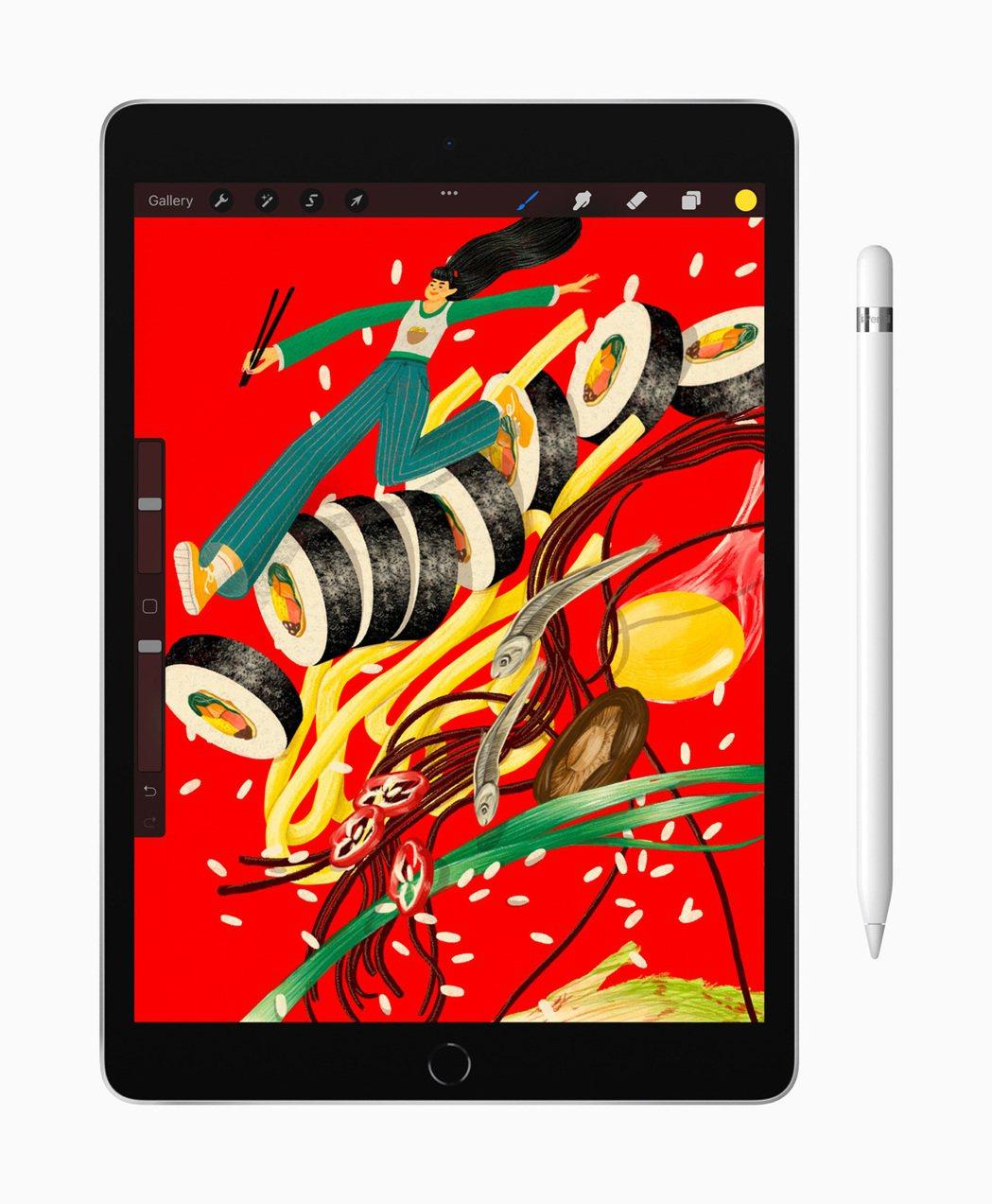 全新的平價版10.2吋iPad使用更快的A13仿生晶片。 取自蘋果公司官網