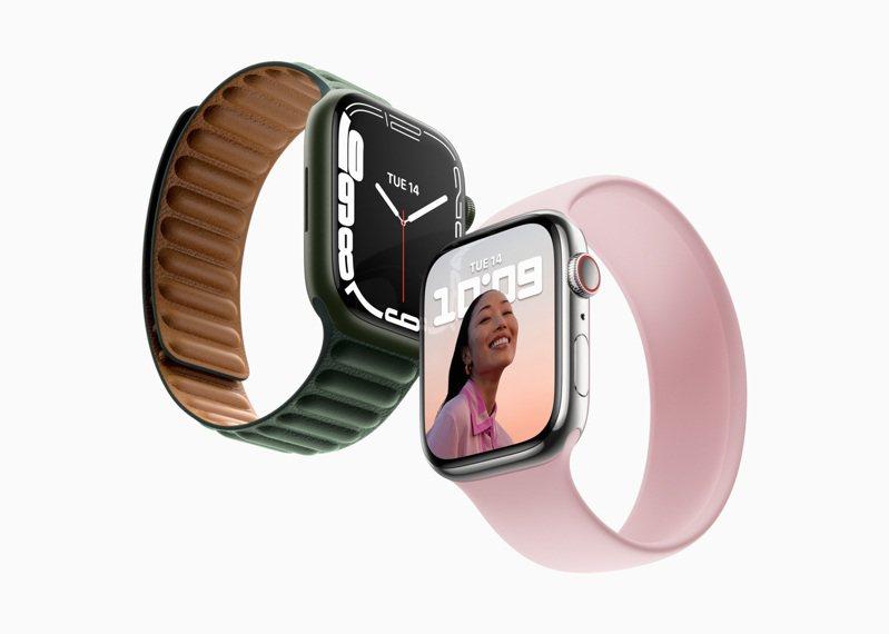 蘋果宣布將於今年秋季末正式推出全新Apple Watch Series 7。圖/蘋果提供