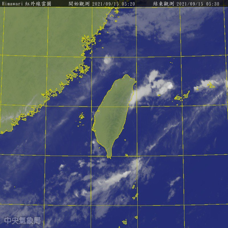 衛星雲圖。圖/氣象局