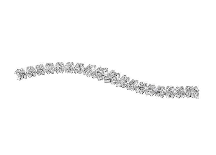 BVLGARI Fiorever系列鑽石手環,約190萬1,000元。圖/寶格麗...