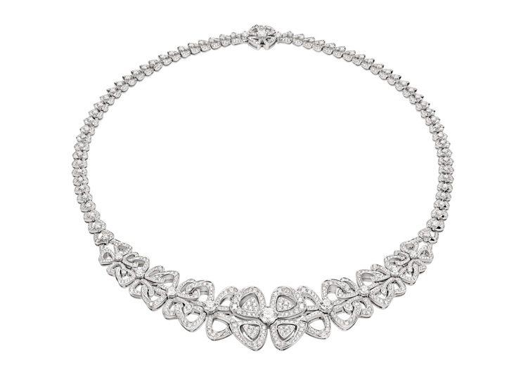BVLGARI Fiorever系列鑽石項練,約301萬元。圖/寶格麗提供