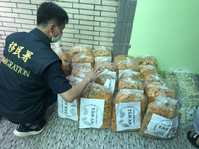 越南進口肉品被驗出非洲豬瘟,移民署大動作搜索東南亞雜貨商行。記者王駿杰/翻攝