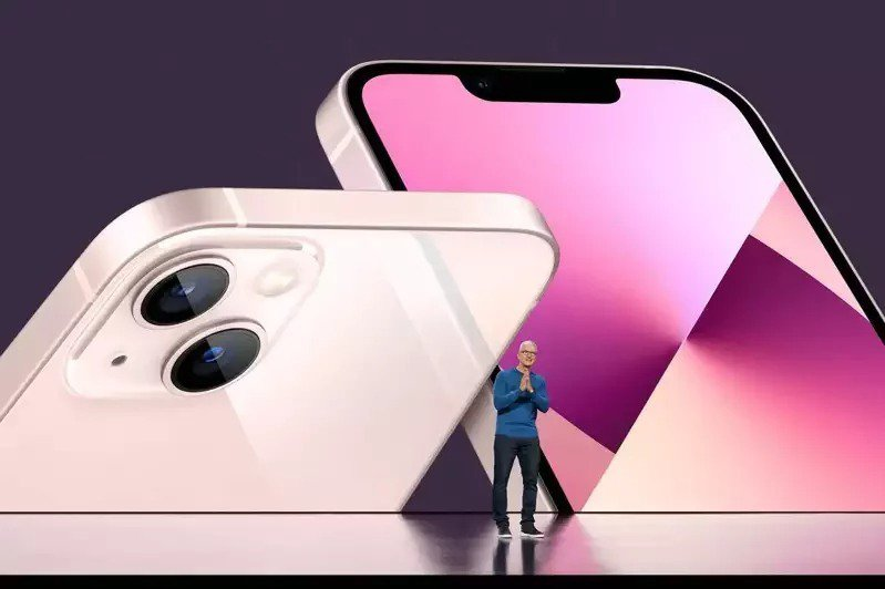 蘋果於15日秋季發表會上發表iPhone 13系列新機。  法新社