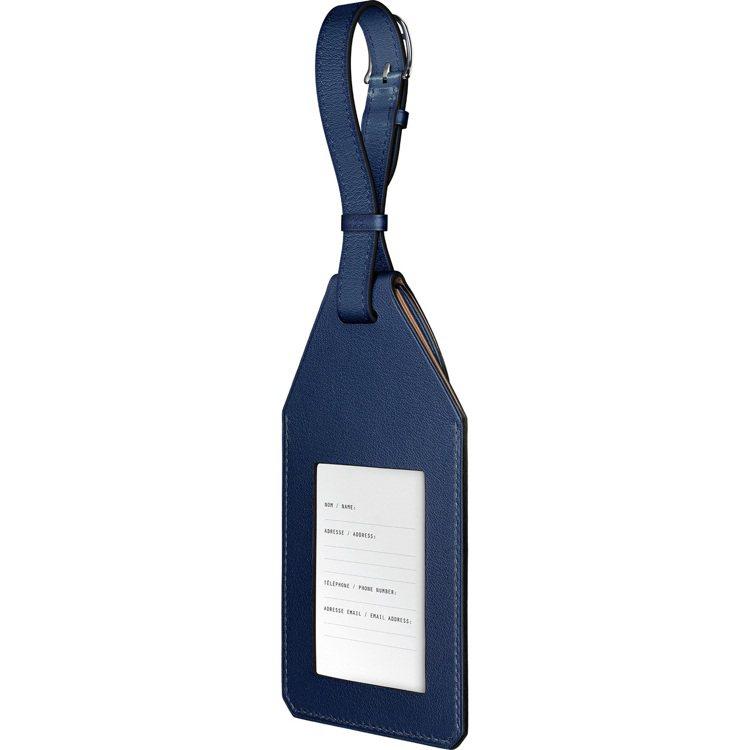 Apple AirTag Hermès系列Swift 小牛皮行李提袋吊牌,藍寶石...