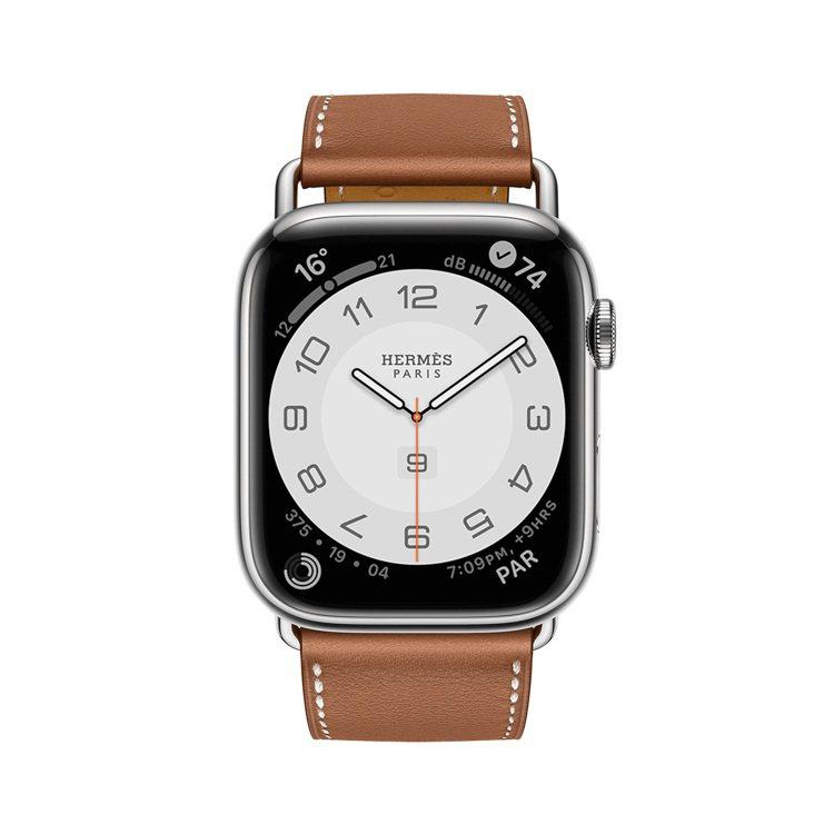 第七代Apple Watch Hermès 45毫米表殼配Attelage系列金...