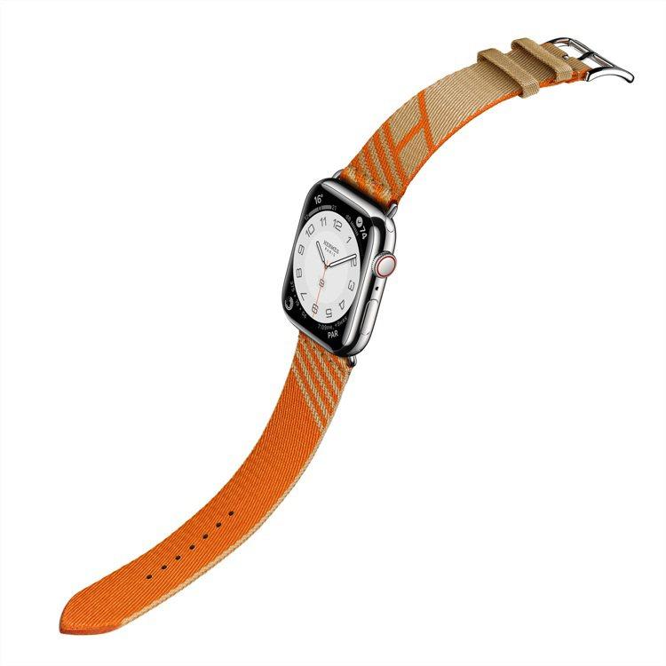 第七代 Apple Watch Hermès Jumping圖紋印花系列牛皮紙色...