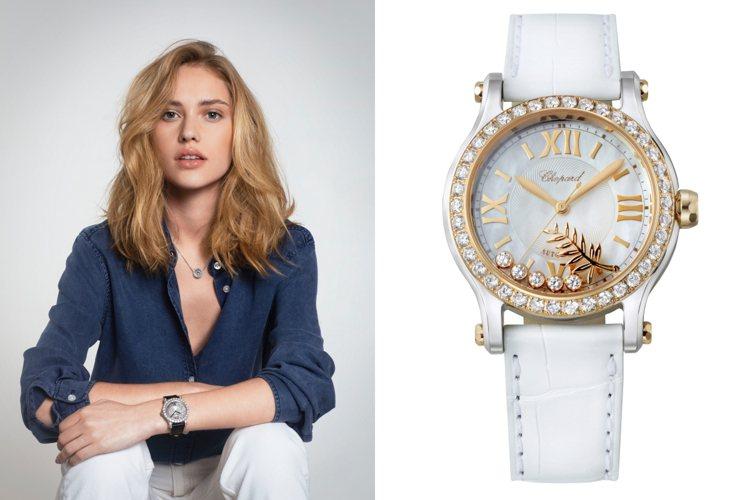 Happy Sport系列腕錶與自由滑動的鑽石珠寶,閃耀最璀璨的光芒。圖/蕭邦提...
