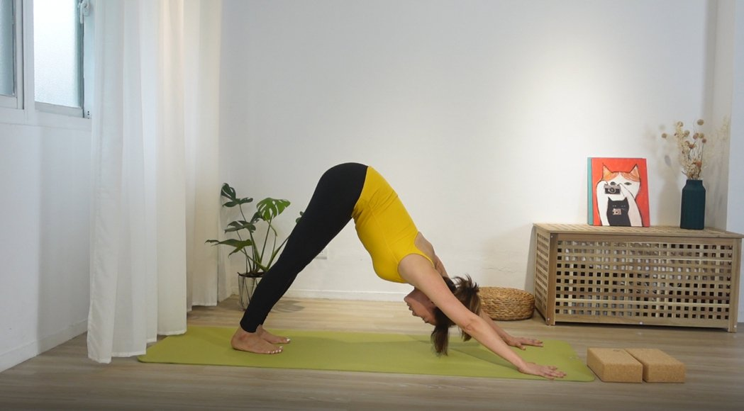 連靜雯當瑜伽老師,疫情期間也不間斷。圖/楠軒工作室提供