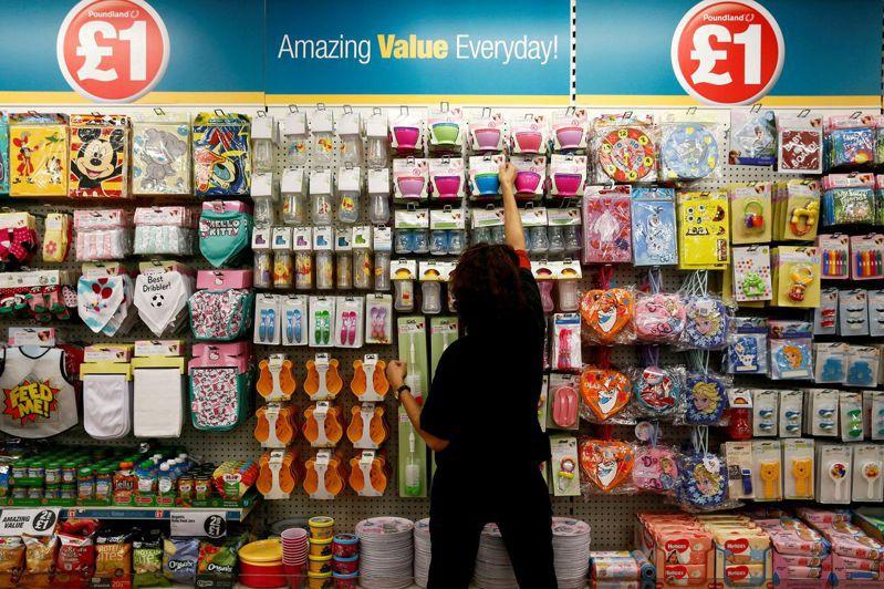 英國8月CPI攀升3.2%,寫逾九年來最大增幅,使通膨壓力加重。(路透)