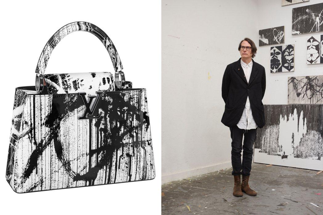 Gregor Hildebrandt以黑白印刷,創造搶眼感。圖/LV提供