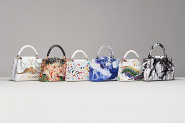 LV邀請六位藝術家,以經典的Capucines手袋為創作本質,推出6款典藏包款。圖/LV提供