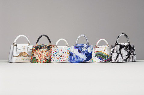 LV邀請六位藝術家,以經典的Capucines手袋為創作本質,推出6款典藏包款。...