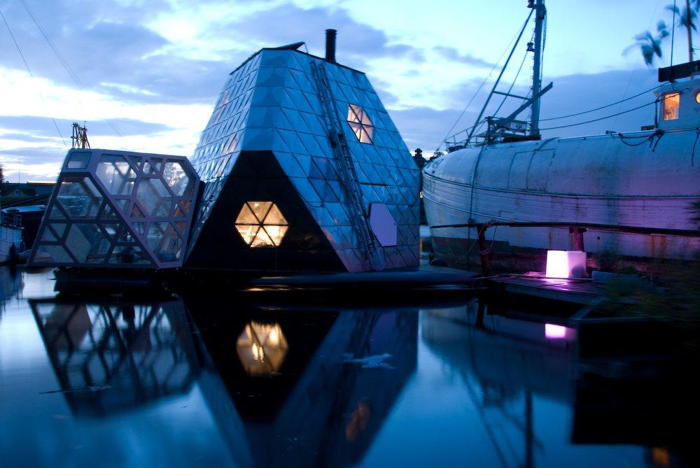 丹麥藝術團體「N55」所設計的可推上街頭的行動屋。 圖/維基共享