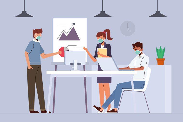 在辦公室工作比餐廳內用更容易染疫? 圖/ingimage