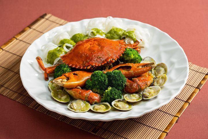 ▲秋蟹盛宴-青醬大沙公。 圖:台北國賓大飯店/提供