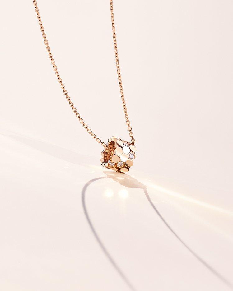 Bee My Love 18K玫瑰金吊墜,鑲嵌12顆明亮式切割鑽石,82,500...