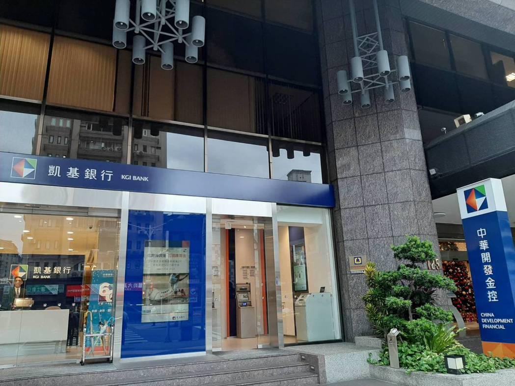 凱基銀行。圖/本報資料照片