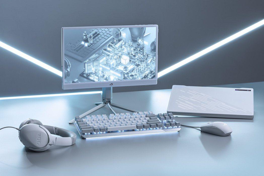 華碩推ROG月光系列電競周邊新品。華碩/提供