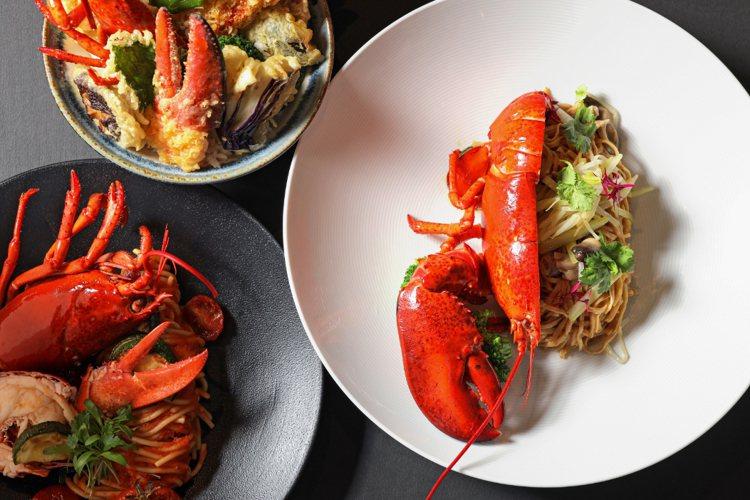 5款肥美龍蝦料理,也是餐飲回饋使用的熱門選項。圖/台北晶華提供