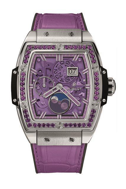 Spirit of Big Bang月相彩色寶石腕表鈦金屬紫色款,69萬7,00...