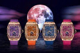 HUBLOT將月相變潮了!繽紛4色彩寶酒桶型腕表迎中秋