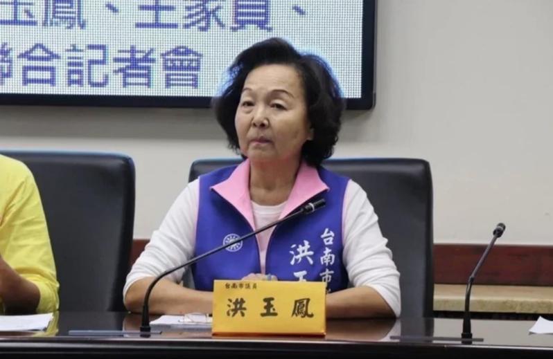 國民黨台南市議員洪玉鳳為7連霸資深議員,她表態不再尋求連任。本報資料照片