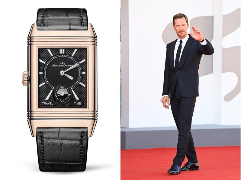 Benedict Cumberbatch在威尼斯影展期間,換上多套西裝並搭配積家腕表出席,一展紳士風範。圖 / 積家提供(合成照)