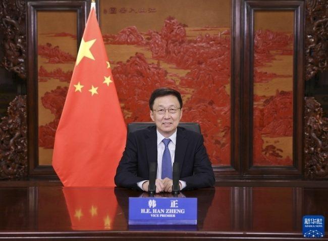 大陸國務院副總理韓正。圖/新華社