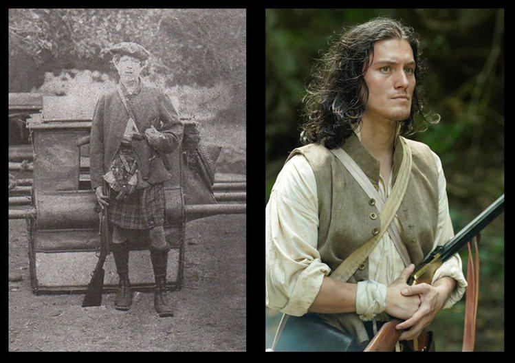 服裝組參考真實的必麒麟在1869年拍攝的照片(左)讓周厚安穿上傳統蘇格蘭裙,就很...