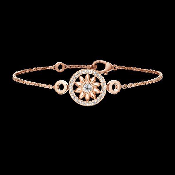Harry Winston Winston Gate玫瑰金鑽石手環,價格店洽。 ...