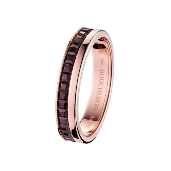 Boucheron Quatre Classique系列玫瑰金戒指,64,000...