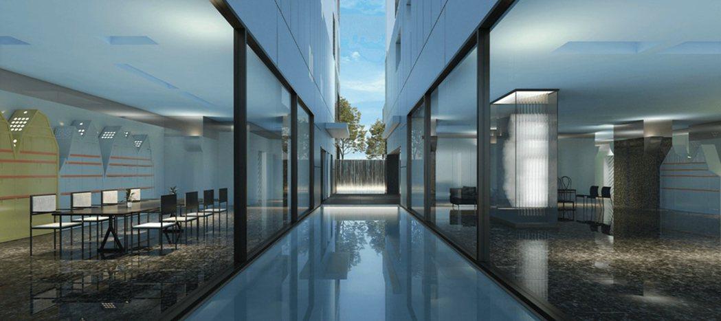 原廣司在兩幢建築物以鏡面水池、清玻璃、氟碳烤漆飾版反映天光水色,呈現自然詩意。 ...