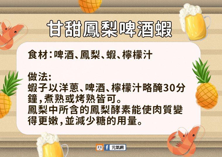 譚敦慈教「甘甜鳳梨啤酒蝦」烤肉美味料理。